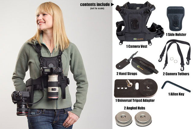 Camera Vest and Side Holster 124RTL-D