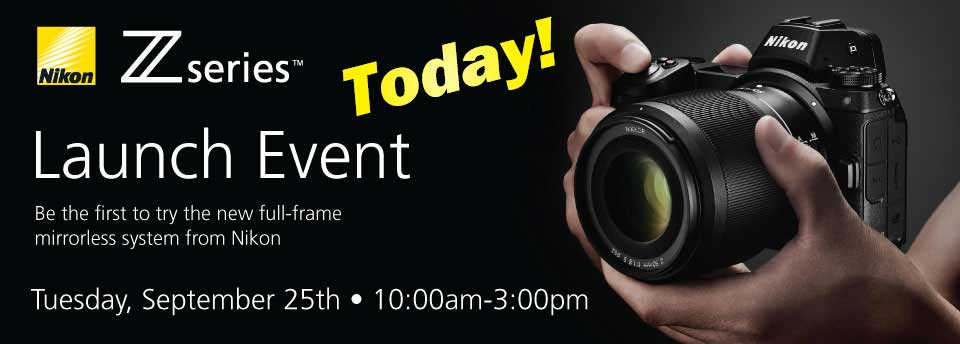 Nikon Z-Series in-store launch Sept 25